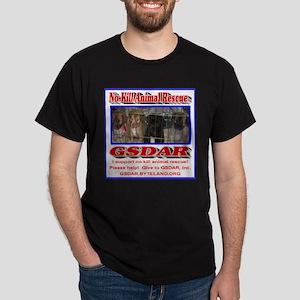 Support GSDAR No-Kill Animal Rescue Dark T-Shirt