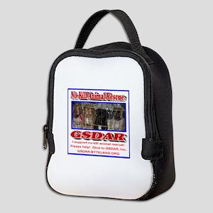 Support GSDAR No-Kill Animal Re Neoprene Lunch Bag