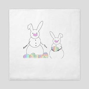 Real Snow Bunnies Queen Duvet