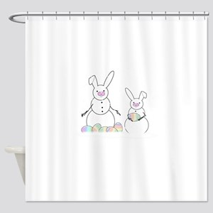 Real Snow Bunnies Shower Curtain