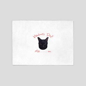 Valentine's Cat Meh 5'x7'Area Rug