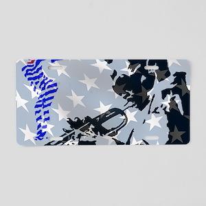 Singing the Blues Aluminum License Plate