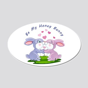 Honey Bunny- 20x12 Oval Wall Decal
