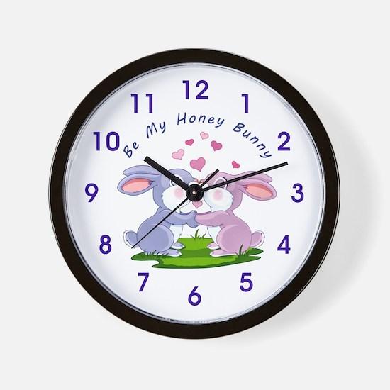 Honey Bunny- Wall Clock