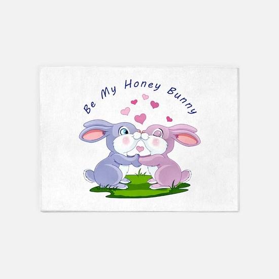 Honey Bunny- 5'x7'Area Rug