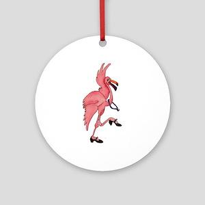 Flamingo Dancer Ornament (Round)