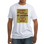 Danger! Methane producer. Fitted T-Shirt
