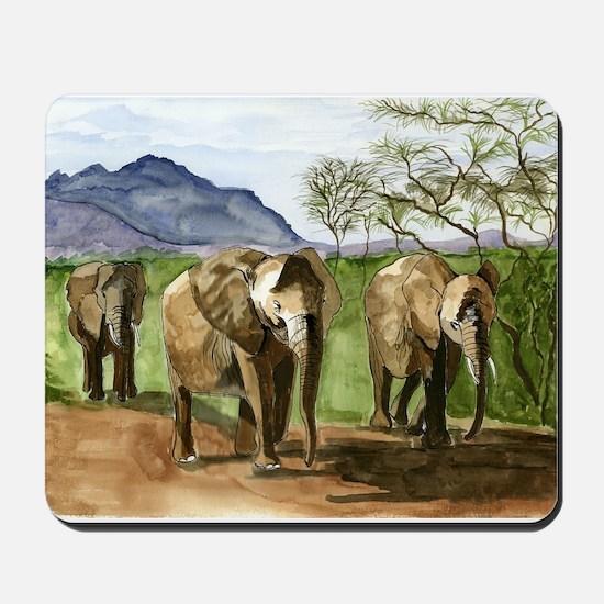African Elephants of Kenya Mousepad