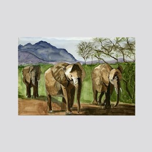 African Elephants of Kenya Magnets