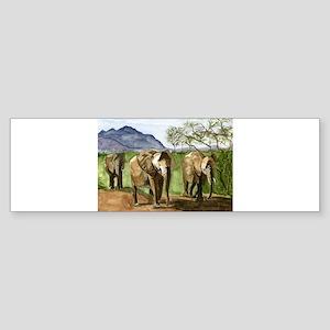 African Elephants of Kenya Bumper Sticker