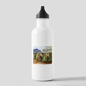 African Elephants of Kenya Sports Water Bottle