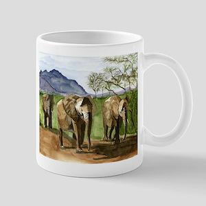 African Elephants of Kenya Mugs