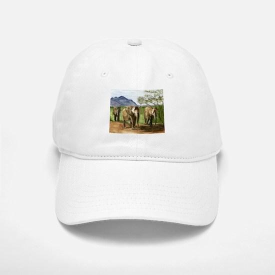 African Elephants of Kenya Baseball Baseball Cap