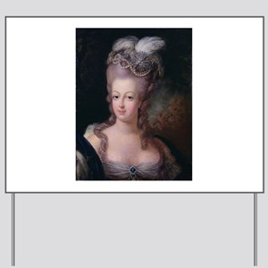 antique marie antoinette painting Yard Sign