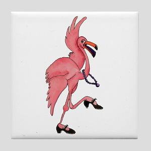 Flamingo Dancer Tile Coaster