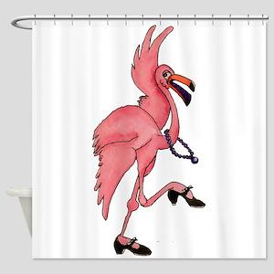 Flamingo Dancer Shower Curtain