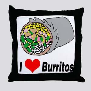 I heart burritos Throw Pillow