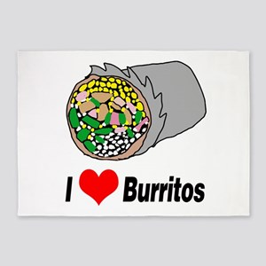 I heart burritos 5'x7'Area Rug