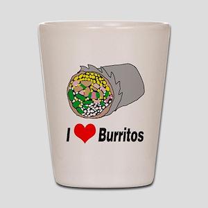 I heart burritos Shot Glass