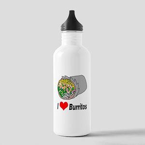 I heart burritos Water Bottle
