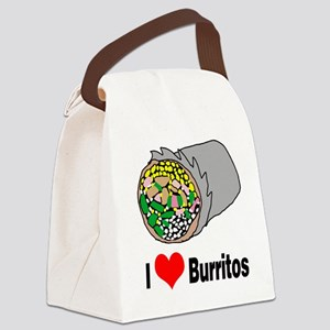I heart burritos Canvas Lunch Bag