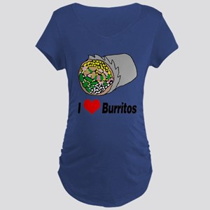 I heart burritos Maternity T-Shirt