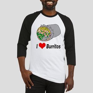 I heart burritos Baseball Jersey