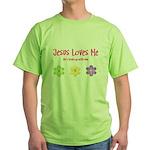 Jesus Loves Me Green T-Shirt