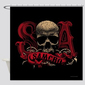 SAMCRO Skull Shower Curtain