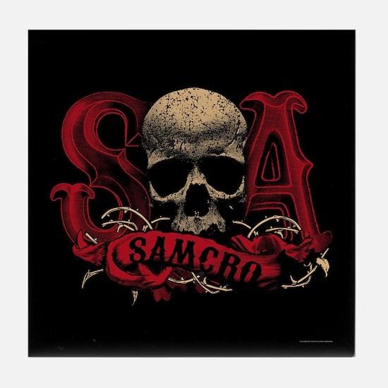 SAMCRO Skull Tile Coaster