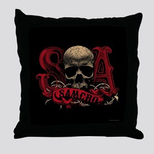SAMCRO Skull Throw Pillow