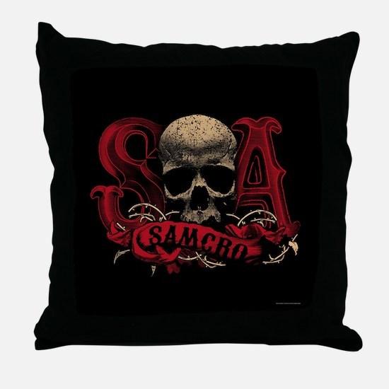 SAMCRO Skull Throw Pillow