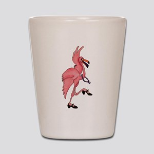 Flamingo Dancer Shot Glass