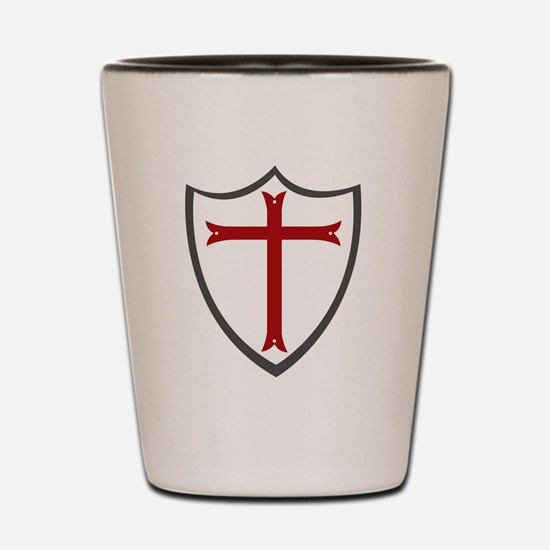 Templar Cross & Shield Shot Glass
