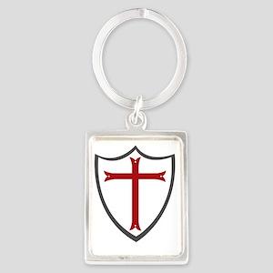 Templar Cross & Shield Portrait Keychain