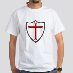 Templar Cross & Shield White T-Shirt