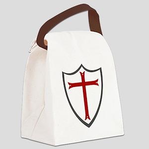 Templar Cross & Shield Canvas Lunch Bag