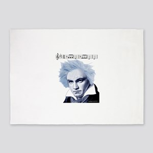 Beethoven 5th Symphony 5'x7'Area Rug