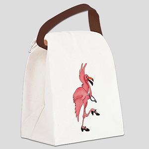 Flamingo Dancer Canvas Lunch Bag