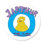 Jarthur Logo Round Car Magnet