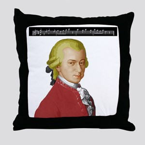 Mozart Nacht Musik Throw Pillow