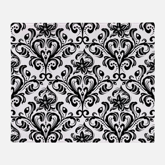 Cute Damask Throw Blanket