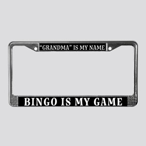 Grandma Is My Name License Plate Frame