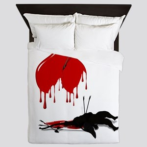 Anti-Valentine Cupid got shot down Queen Duvet