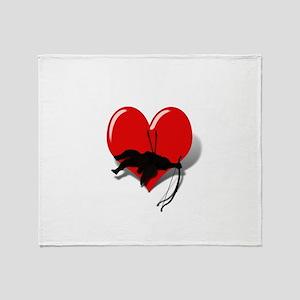 Anti-Valentine Cupid got shot down Throw Blanket