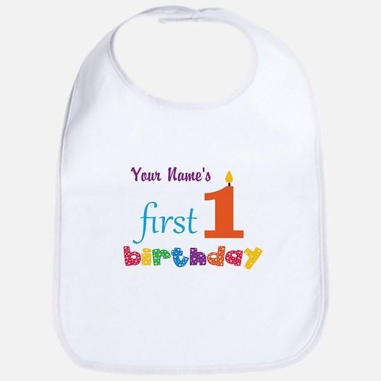 First Birthday - Personalized Bib
