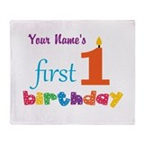 Cute 1st birthday Fleece Blankets