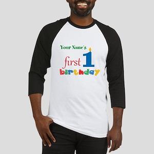 First Birthday - Personalized Baseball Jersey