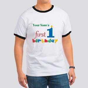 First Birthday - Personalized Ringer T