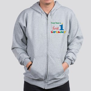 First Birthday - Personalized Zip Hoodie